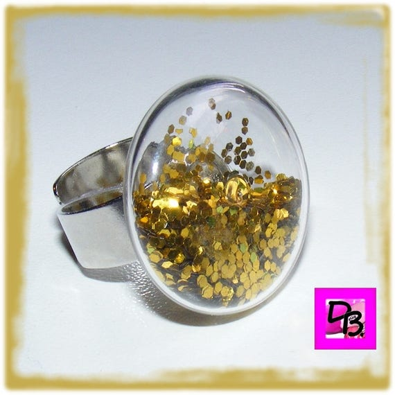 Bague globe [GoldenFlakes]