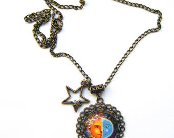"Pendant ""Sun a date with the Moon"""