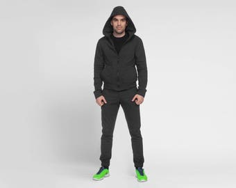 Oversized Hoodie, Mens Hoodie, Zipped Hoodie, Mens Plus Size Clothing, Men Sweatshirt, Mens Activewear, Men Sport Top, Hooded Sweatshirt
