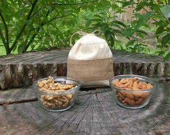 Small Snack Bag  - Vegan Food Bags -Eco Friendly Food Bags -  Fabric Food Bags - Cookie Bags - Nut Bags  - Biodegradable