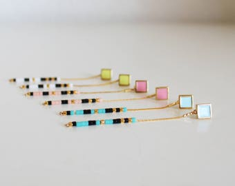Long earrings, minimalist, boho,