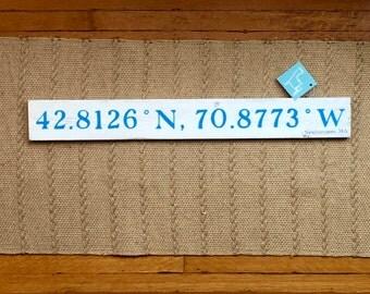 Newburyport , MA Latitude/Longitude Navigational Handpainted sign