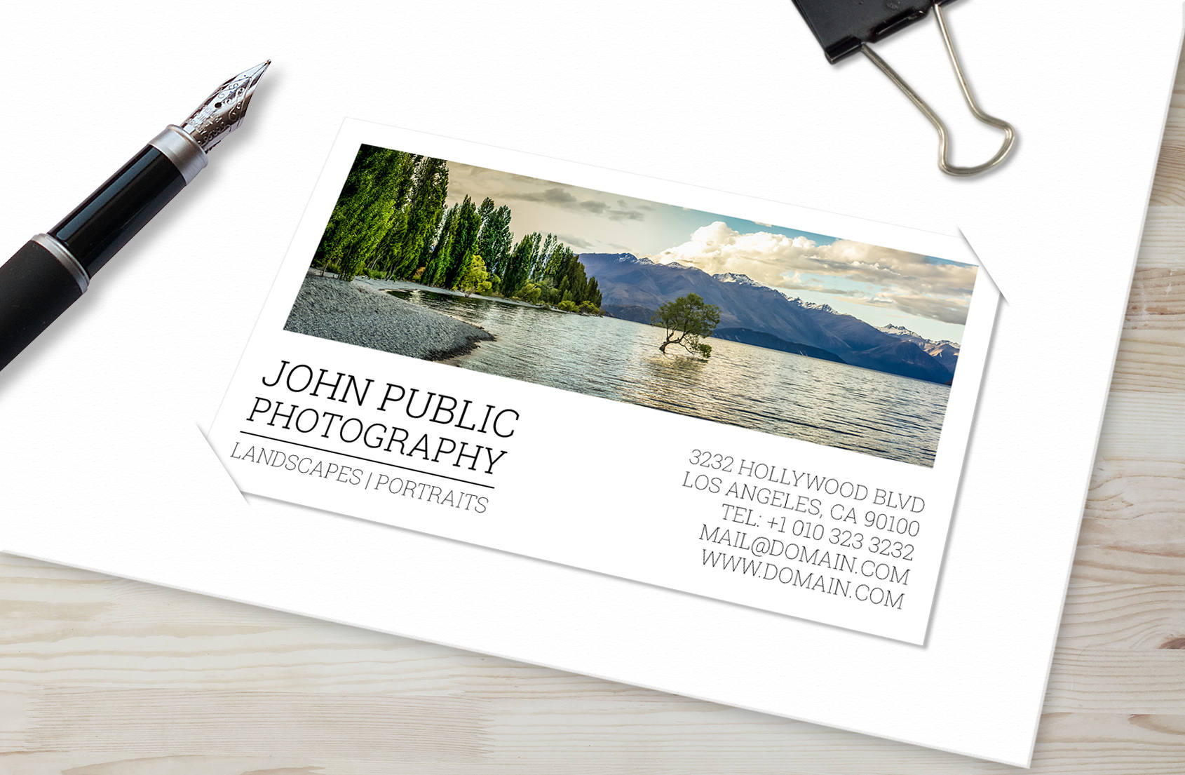 Photographer business cards template psd instant download photographer business cards template psd instant download portrait landscape photographers reheart Images