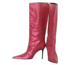 South pink glittery boots