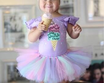 Ice Cream Birthday Outfit, Ice Cream Birthday, Ice Cream Party, Ice Cream Shirt, Ice Cream Party outfit, Ice Cream Social, Baby Girl Leotard