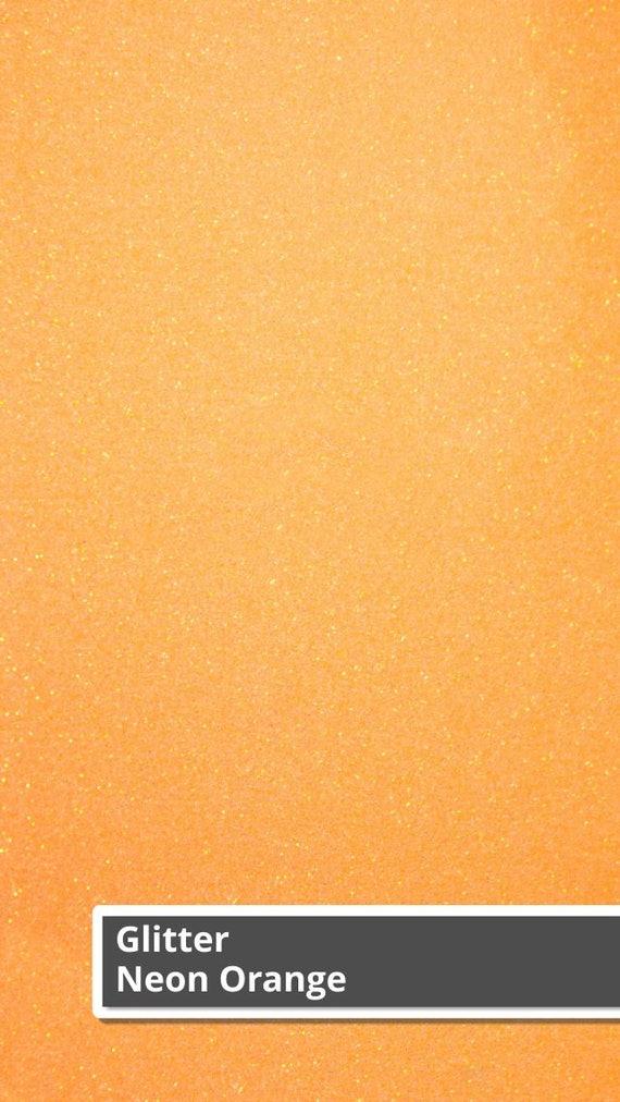 Neon Orange Siser Glitter HTV Neon Orange Glitter HTV Heat