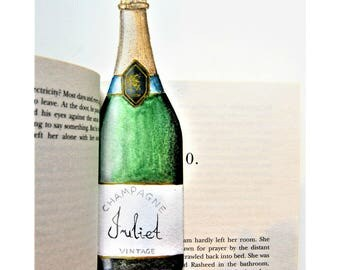 BOOKMARK - PERSONALISED - Champagne Bottle