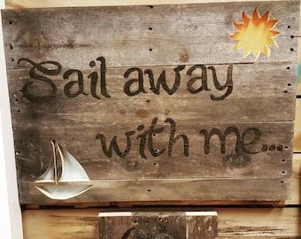 Sail Away with Me Pallet Art