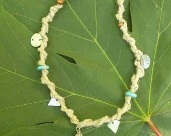 Agate Hemp Necklace