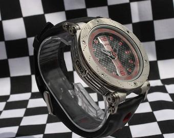 GTM Carbon Fibre Edition Watch - Carbon fibre Dial, leather Rally strap, British built