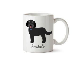 Labradoodle Mug (black - boy)
