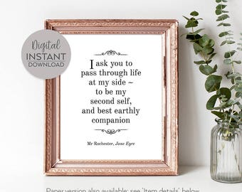 Jane Eyre quote / Jane Eyre Print / Jane Eyre poster / Jane Eyre wall art / Jane Eyre book / DIGITAL FILE DOWNLOAD