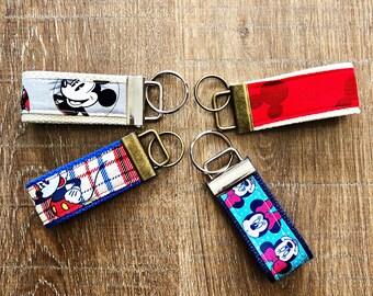 Mickey and Minnie Key Fobs/Disney Inspired/Keychains/Keys/Key Ring/Vacation