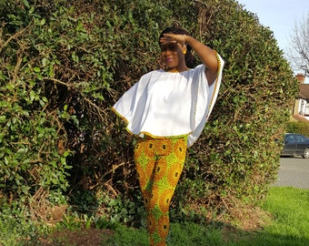 Cape Top and Streched AnkTrousers