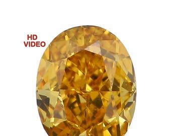 0.14 Ct Natural Loose Diamond Cut Oval Shape Yellow Vivid Color 3.60X2.70X1.90 MM N2940