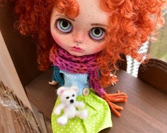 OOAK Blythe doll,Hazel custom art blythe doll by janasOOAKblytheDolls, dolls,ginger hair
