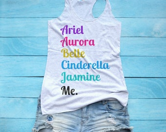Disney Princess Tank Top / T Shirt