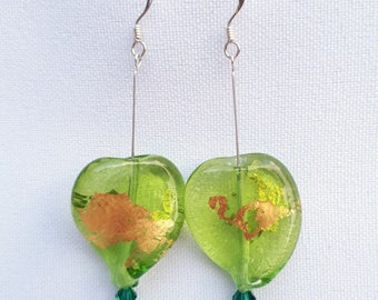 Silver / Murano glass earrings