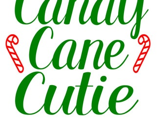 Candy Cane Cutie-SVG-DXF cut files