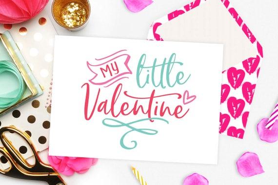 My little Valentine svg file for cut Baby Valentine svg Heart svg ...