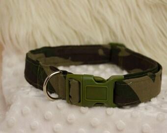 Camouflage Dog Collar - Size Large