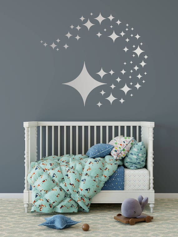 Star Wall Decals  81 Variety Sizes Nursery Home Wall Decal  6 Sizes Stars  Pattern