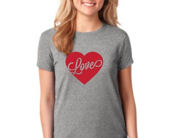Love Valentines Day Shirt - Funny Vday Shirt Gift - Gifts Under 25 - Friend Gift - Bestie Gift - Singles Awareness Day Shirt - Vday