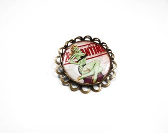 Zombie apocalypse rockabilly pin badge