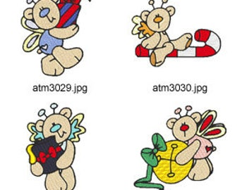 Christmas-Butterfly-Bears ( 7 Machine Embroidery Designs from ATW ) XYZ17E