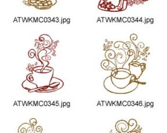 Decorative-Coffee. ( 10 Machine Embroidery Designs from ATW ). XYZ17F