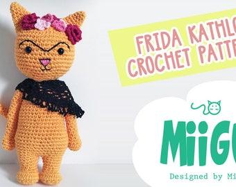 Frida Kathlo (Kahlo) cat crochet amigurumi miigu pattern