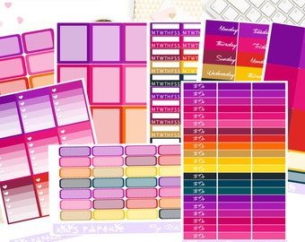 Sunset Vertical Sticker Kit Plains Collection|Erin Condren|Lifeplanner|Happy Planner