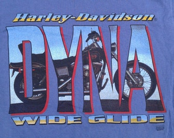 Vintage 90's Harley Davidson DYNA WIDE GLIDE / Motorsport / Sarnia, Ontario, Canada / Made in Canada / double-sided t-shirt small