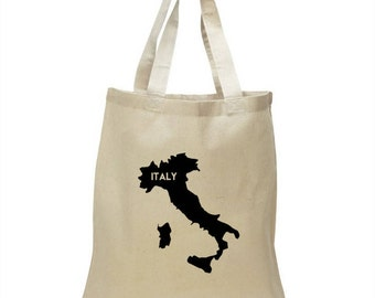 High Quality Heavy Canvas Tote Bag - Italy