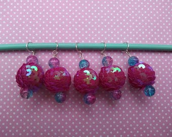 Psycho Baubles - Sparkle Bauble Knitting Stitch Markers