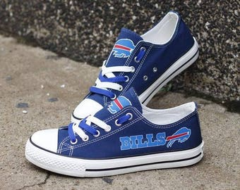 Custom Printed Low Top Canvas Shoes - Buffalo Bills