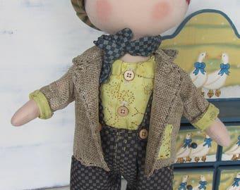 handmade doll, rag doll, fabric doll handmade, Tilda, Tilda doll, textile doll,handmade gift, doll for gift, Christmas present, Christmas,