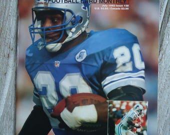 1992 Barry Sanders - Vintage Magazine - Barry Sanders - Barry Sanders gift - Vintage NFL - Detroit Lions gift - Barry Sanders - Sports gift