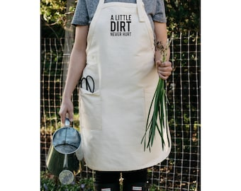 Womens Aprons, Aprons For Women, Apron, A Little Dirt Never Hurt, Aprons