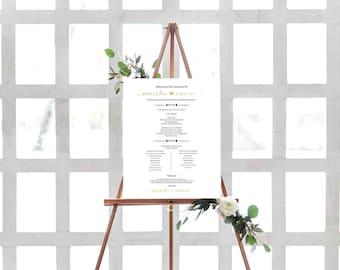 Ceremony Sign- Wedding Program Sign- Aisle Decor- Wedding Schedule Sign- Aisle Signs- Wedding Ceremony Decor- Rustic Wedding Decor-