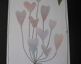 Old School hand-made card - valentine for your ex