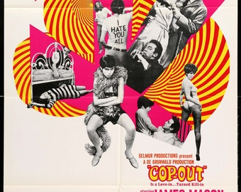 """Cop-Out (1968) Original One Sheet Movie Poster - 27"""" x 41"""