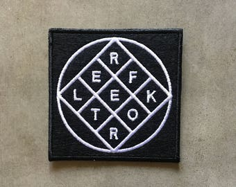 "Arcade Fire 'Reflektor' Logo iron on embroidered patch (aprox. 3"" x 3"")"