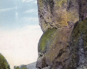 3 Vintage Images-Oneonta Bluff on the Columbia River Postcard-Vintage Digital Postcard-Instant Download-Printable Postcard-Greeting Postcard