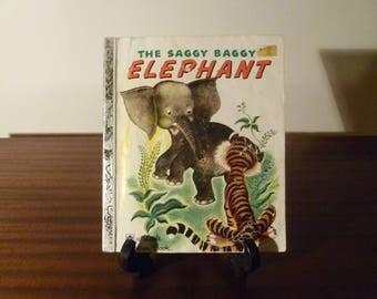 "Vintage 1974 Book ""The Saggy Baggy Elephant"" - A little Golden Book / Kids Book /"