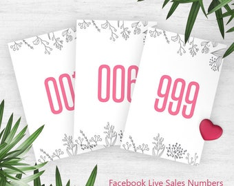 Pink Coloring Lula Normal + Mirrored Live Sales Numbers, Mirrored Tags, Facebook Live Sale Numbers, Instant Download, Facebook Numbers