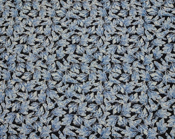 Ice-Blue Leaves Cotton Fabric from Timeless Treasures