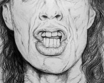 Celebrity portrait - Mick Jagger example