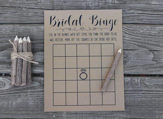 Bridal Bingo Shower Games Wedding Game