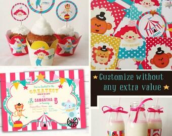 Circus Party decoration-Circus Party Theme-Circus Party Decoration-Carnival Birthday Party-Invitaciones de Circo